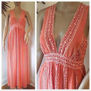 Lauren Moffatt Silk Maxi Dress